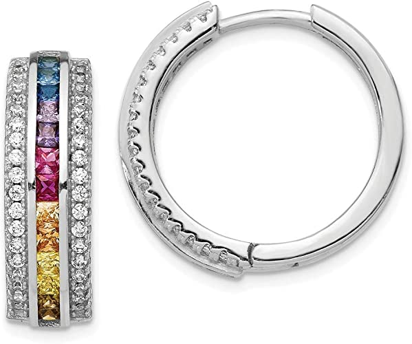 FB Jewels Solid 925 Sterling Silver Rhodium Plated Diamond Bracelet