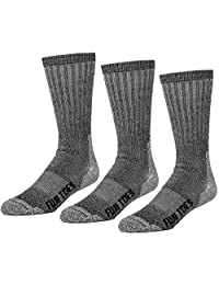 FUN TOES 3 pairs thermal insulated 80% merino wool socks men's, hiking size 8-12