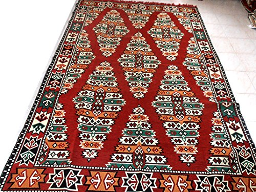 Kilim Rug,Turkish Kilim Rug,Traditional Rug,Kilim Fabric Rug - MA 25-26