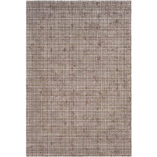 Tiwari Home 2' x 3' Distressed Vintage Style Brown and Gray Silk Area Throw - Micro Rug Hooked Wool