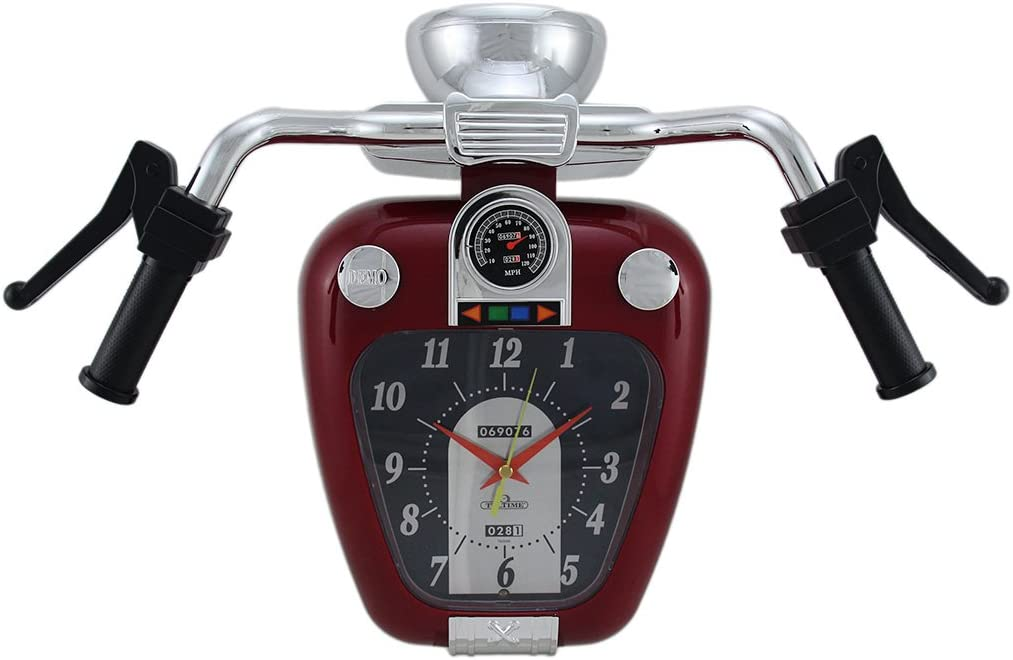 Zeckos Super Cruiser Motorcycle Wall Clock W Sound
