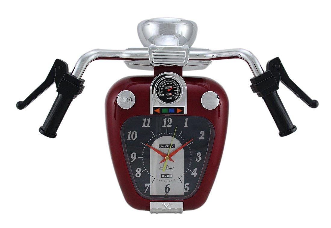 Zeckos Super Cruiser Motorcycle Wall Clock W Sound