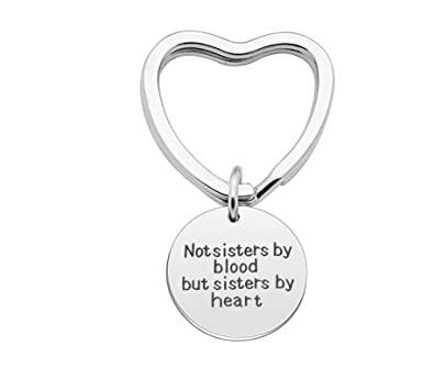 AmDxD Acero Inoxidable Llavero Mujer Charm Not Sisters by ...