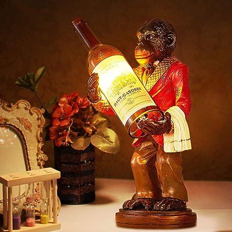 Gorila Lamp de pie, resina, Orangutan Abrazar Botella de ...