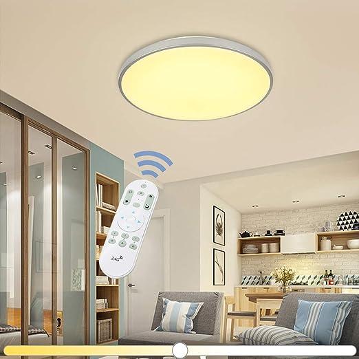 VINGO® 60W LED Deckenleuchte Stufenlos Dimmbar Wohnzimmerlampe ...