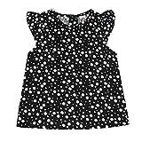 Voberry Toddler Infant Girls Summer Polka Dot Short Sleeve T-Shirt (3T, Black)