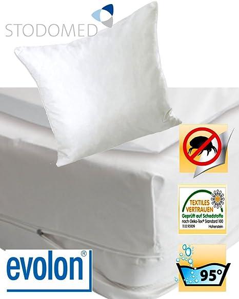 Stodomed Evolon Tauro cabeza para alérgicos al ácaros del polvo protector de almohada 80 x 80