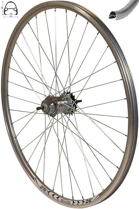 REDONDO 28 Zoll Hinterrad Laufrad Hohlkammer V Profil Felge 8-10 fach Silber