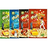 POPSHOW Corn Microwave Popcorn Salted Variety Pack (4x80g)