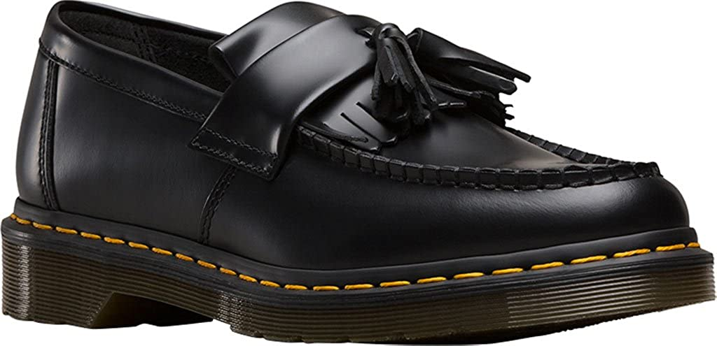 Dr.Martens Mens Adrian Black Leather Shoes 43 EU