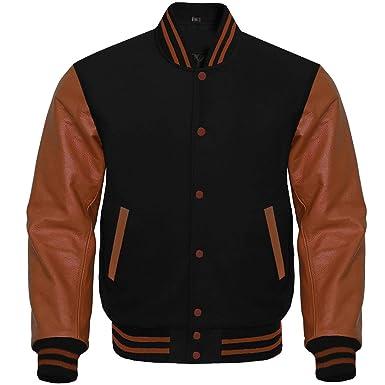 4a6a1479 Tripex Letterman Baseball School College Varsity Jacket Wool Black ...
