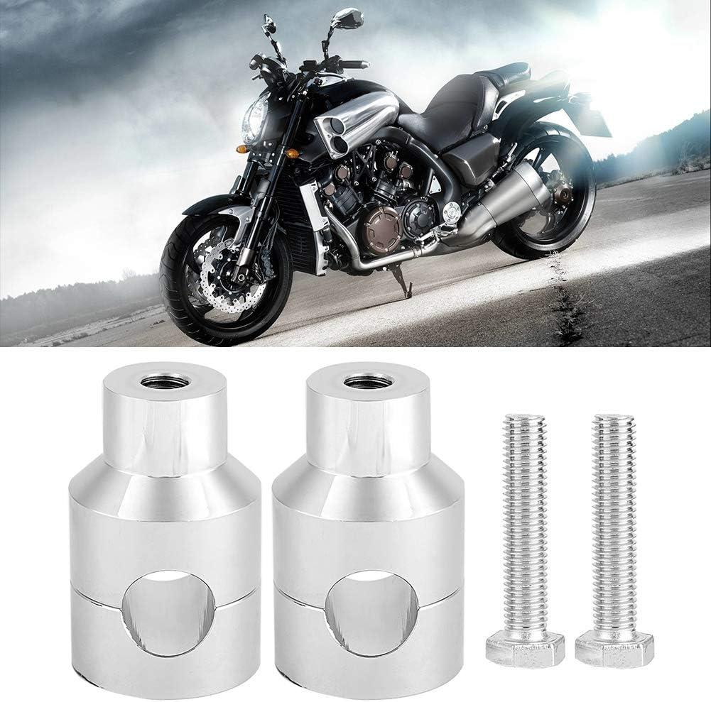 Suuonee Lift Lenker Pair Lift Lenker Riser 22mm Aluminiumlegierung Für Motorradmodifikation Elektrosilberung Auto