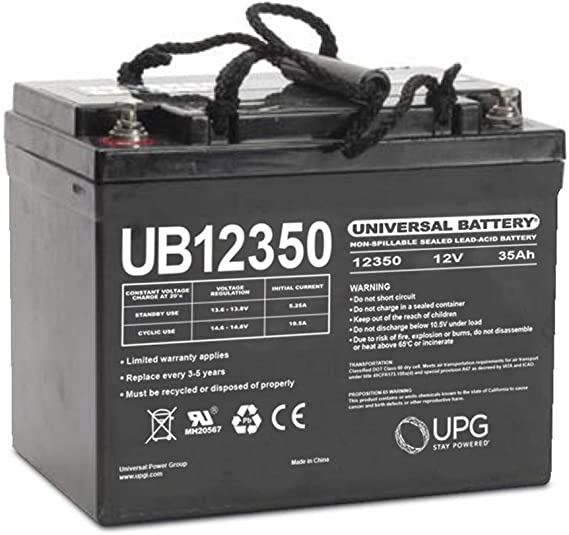 UNIVERSAL POWER 12 VOLT 35 AH UB12350 12V 36AH ALARM REPLACEMENT BATTERY