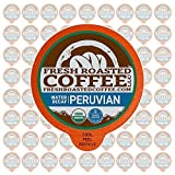 Peruvian Water Decaf FTO Single-Serve Cups, 72 ct. of Single Serve Capsules for Keurig K-Cup Brewers, Fresh Roasted Coffee LLC.