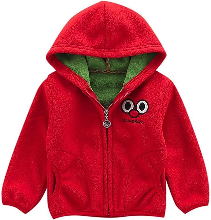 Bébé Garçons Filles Sweat à capuche manteau polaire Zipper Tops Manteau Vestes Chaud Outwear
