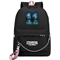 Mochila Stranger Things Escolar, Stranger Things 3 Mochila de Impresión 3D Stranger Things Bolsa para Mujer Hombre Portátil Backpack Casual Hombro Mochila Adolescentes con USB Puerto
