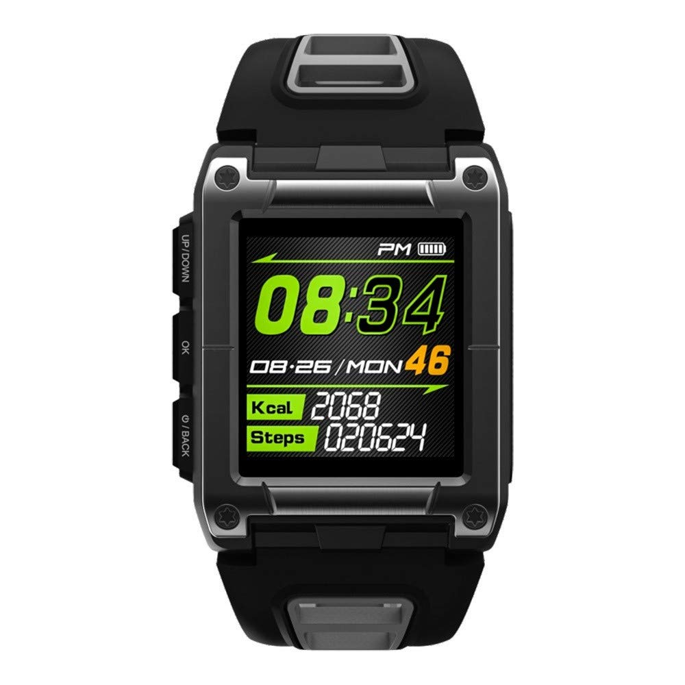 Lovewe Professional IP68 Waterproof Swimming Smart Watch Fitness Tracker Bluetooth GPS Wristband Colorful UI (Gray)