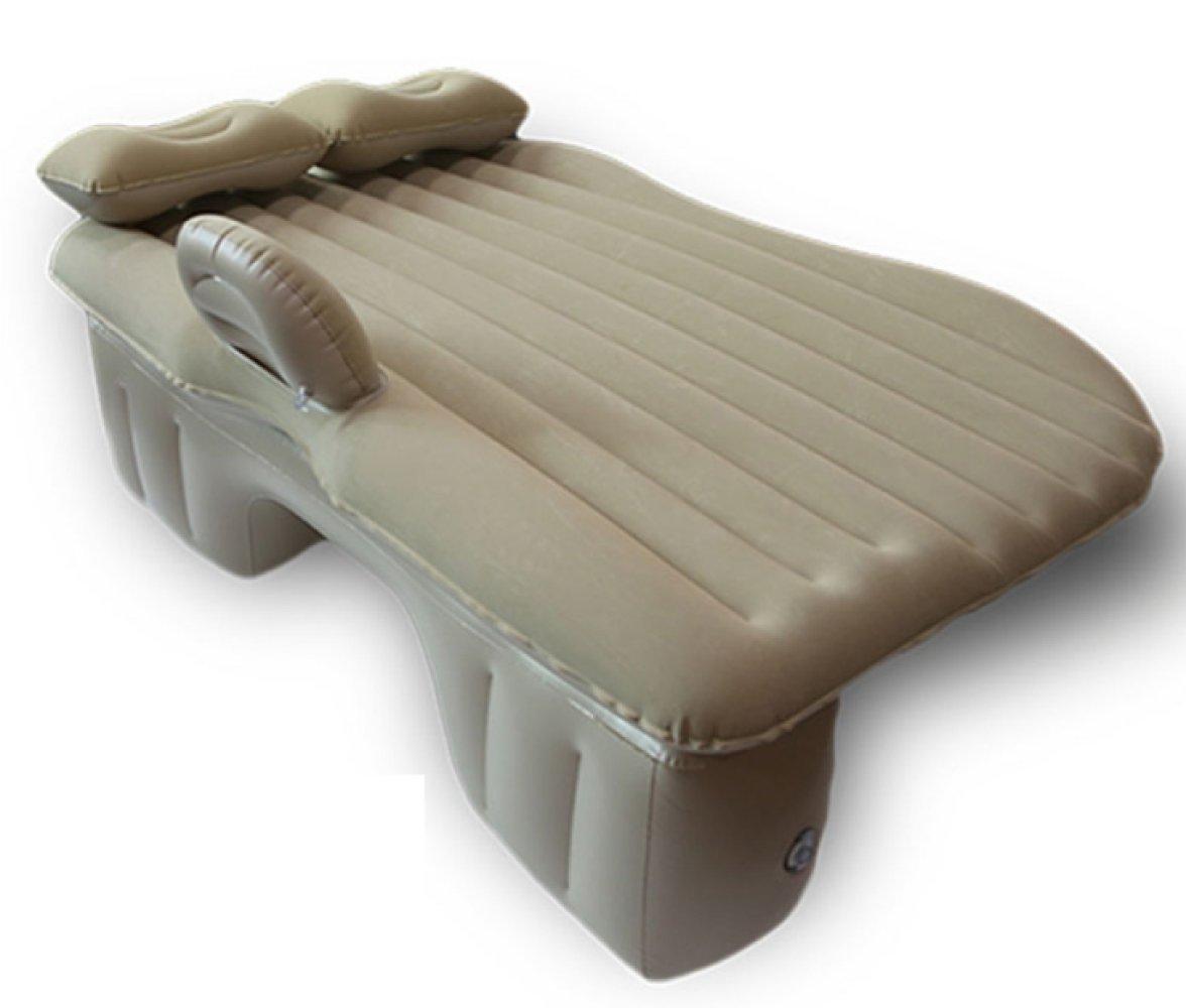 HAOXIAOZI Aufblasbare Bett Reisebett Beflockung SUV Auto Rear Seat Erwachsene Schlafmatte,Beige