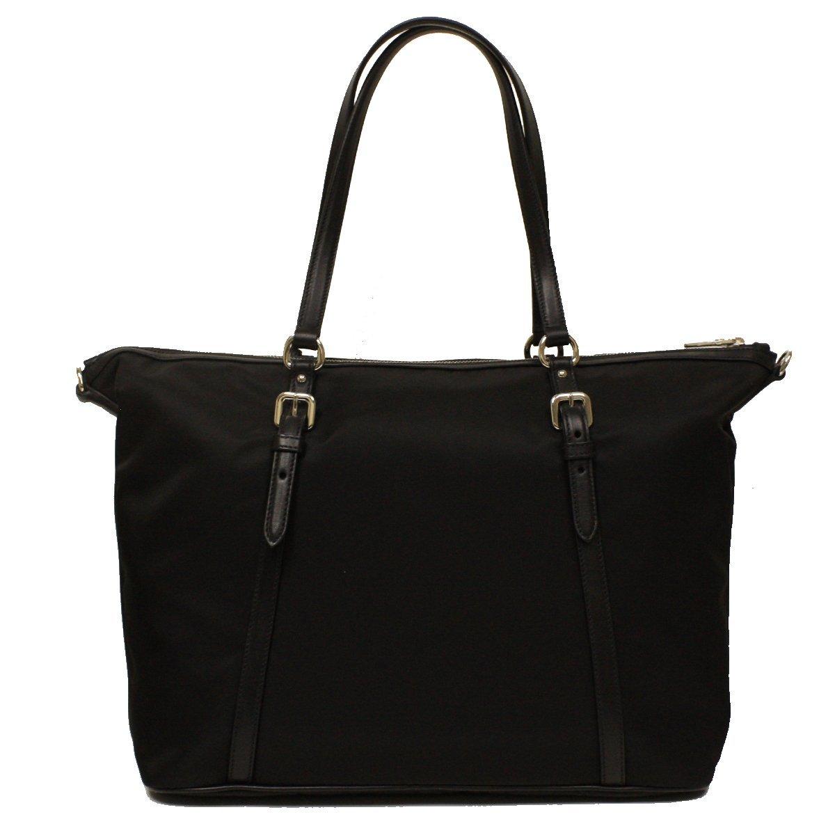 53ca9612a0888 Prada B4253M Nero Black Tessuto Soft Calf Nylon and Leather Shopping Tote  Bag  Amazon.ca  Shoes   Handbags