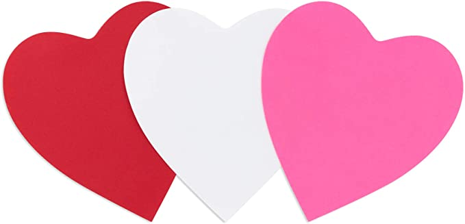 Pick-A-Size Lots of colors and sizes! Heart Shaped Paper Cut Out