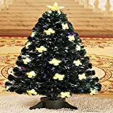 JIN Fiber Optic LED Tree Colorful Disguised Fiber Christmas Tree Christmas Gifts Butterfly Tree , 90cm