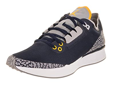 1eba83f37631 Nike Jordan Mens 88 Racer Textile Synthetic College Navy Amarillo Trainers  9.5 US