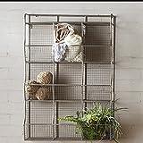 Storage Shelf 9 Cubical Bin Symmetric Design Wire Mesh in Silver