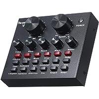 KKmoon V8 Placa de Som Ao Vivo Multifuncional Volume Inteligente Ajustável Mixer de Áudio Placa de Som para Computador PC Som Ao Vivo com Microfone