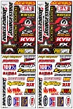 4 Sheets of Bridgestone Race Racing Decal Stickers #Bs-401