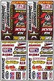 4 Sheets of Bridgestone Race Racing Decal Stickers #Bs-401