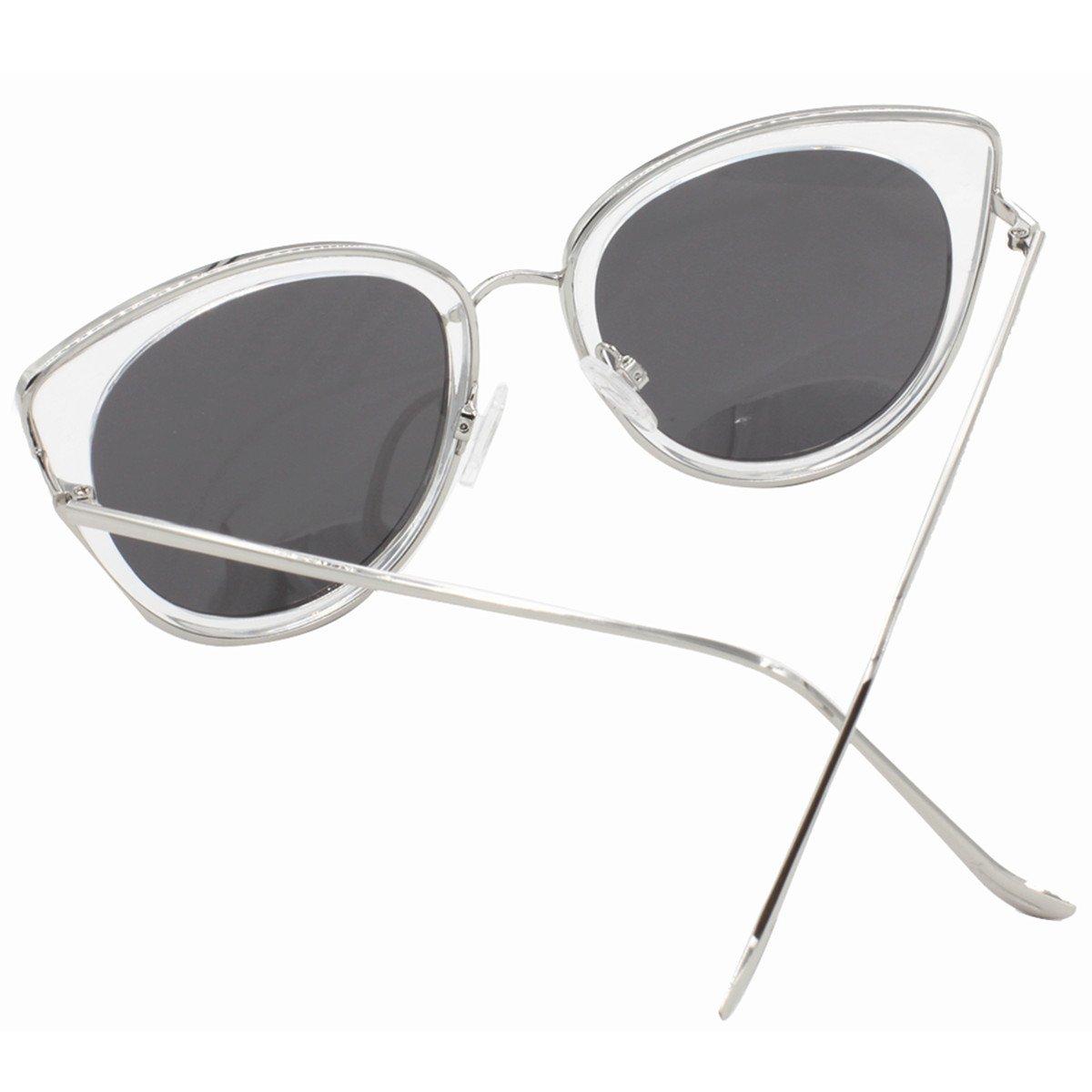 vivienfang mujeres del espejo lente polarizadas vintage ojo ...
