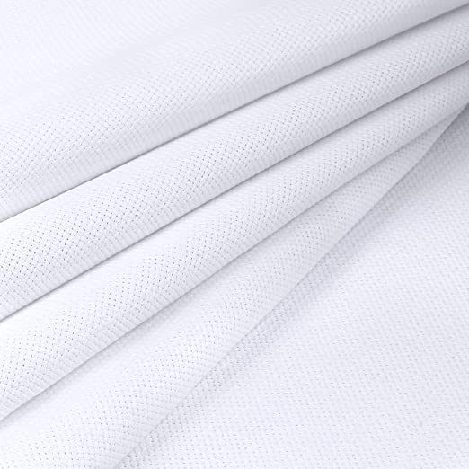 OFNMY 59 by 39-Inch 14 Count Classic Reserve Aida Cloth White Cross Stitch Cloth Fabric Big Size