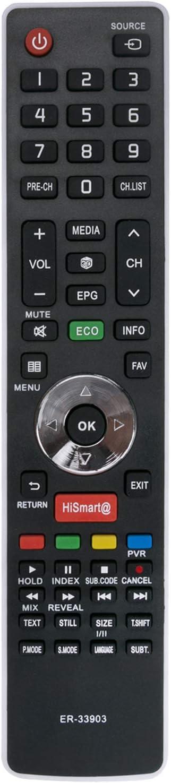 Mando a distancia reemplazado HISENSE Smart TV ER-33903HS LHD32K360WSEU LTDN39K360WSGEU LTDN50K360WSGEU 50K220 LHD32 K160 WSEU LHD32K360 WSEU LHD24K300WSEU LHD29K300WSEU LHD32K160 LTDN39K360WSGEU LTDN: Amazon.es: Electrónica