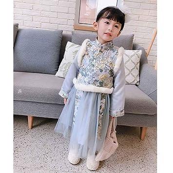 Traje YC-Tang Tradicional China Cheongsam Vestido for el bebé ...