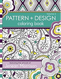 Pattern And Design Coloring Book Jenean Morrison Adult Books Volume 2