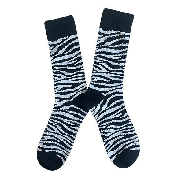 Rawdah_Calcetines Mujer Invierno Divertidos Termicos Algodon Otoño Invierno Personalidad Unisex Calcetines Algodón Leopardo Impresión Color Neutro: ...