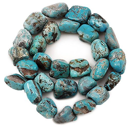 01 Blue Hubei Turquoise Nugget 11x12x9mm-18x14x10mm for Necklace Gemstone Loose Beads 15
