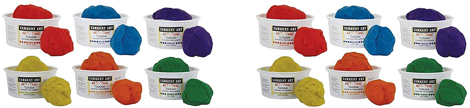 Sargent Art 85-3198 Art-Time Dough (Set of 6), Multicolored (Pack of 2) by Sargent Art