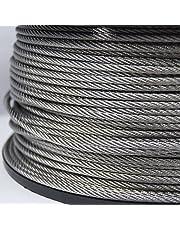 Staalkabel ROESTVRIJ STAAL staalkabel 4mm 30m 7x19 (€ 1,03 / m) roestvrijstalen kabel INOX V4A A4 roestvrije kabel draad staal roestvrijstalen kabel