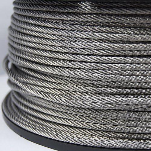 Câble en Acier INOX INOXIDABLE AISI 316 1mm 1,5mm 2mm 2,5mm 3mm 4mm 5mm 6mm 8mm