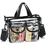 Clear PVC Cosmetic Bags with Removable and Adjustable Shoulder Strap