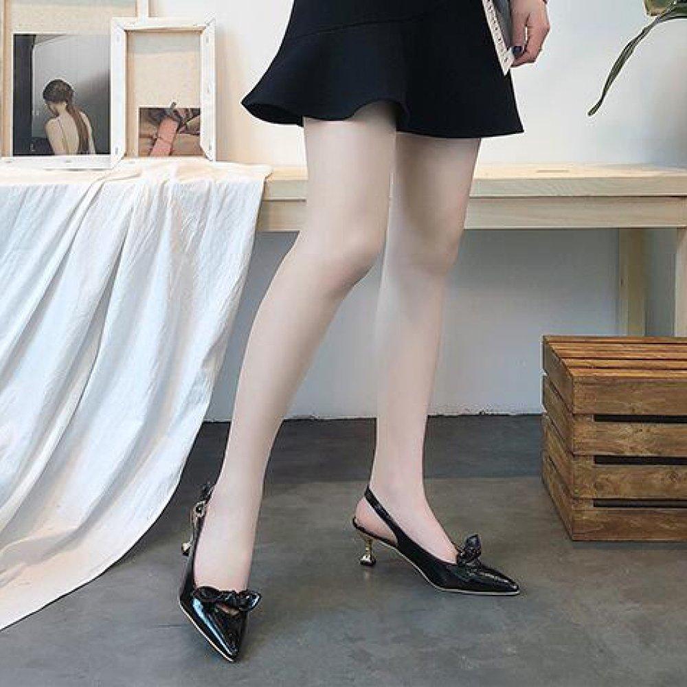 QSCG Frauen Frauen Frauen Kitten Heel High Heels Bow Spitz Stiletto Sandalen Hochzeit Schuhe e2fdfd