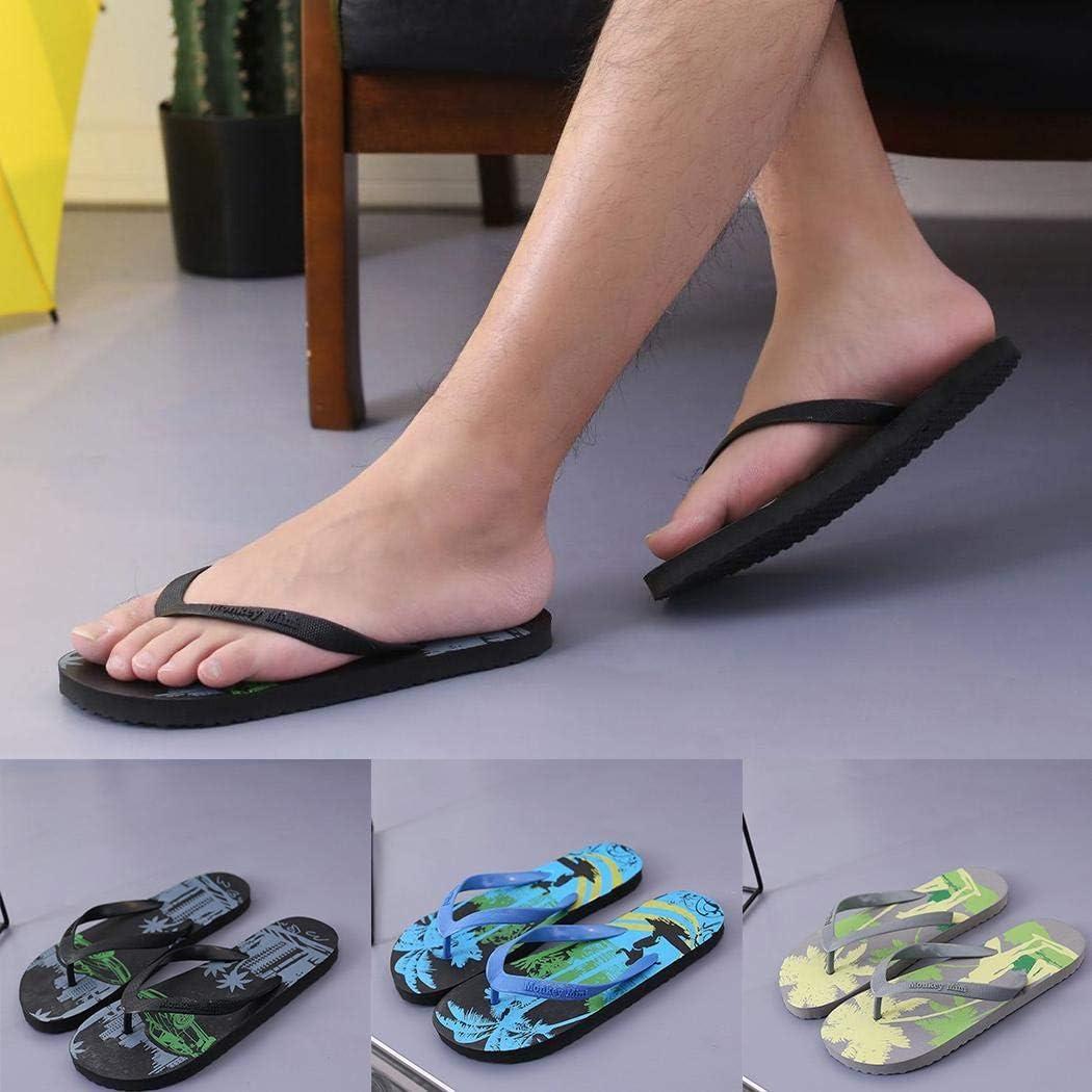 Kindsells Men Summer Flip Flop Sandals Casual Slip-on Beach Flat Slippers Shoes