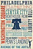 Philadelphia, PA - Typography (12x18 Collectible Art Print, Wall Decor Travel Poster)