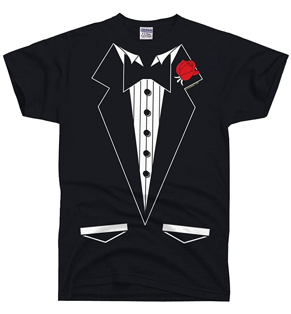 bddac3ee1b7d Top3: DirtyRagz Men\'s Black Formal Tuxedo Tie Tux T Shirt