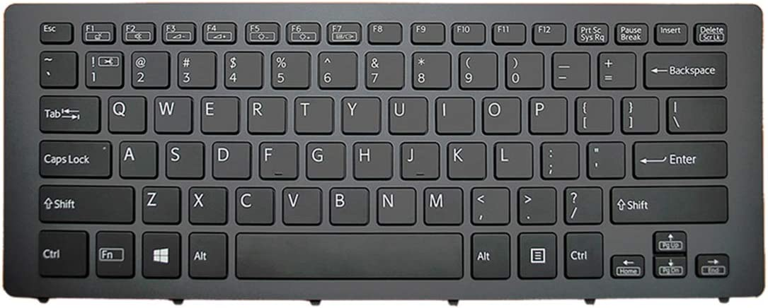 Laptop Replacement Keyboard for Sony SVF15N Series Black Frame Black with Backlit for Win8