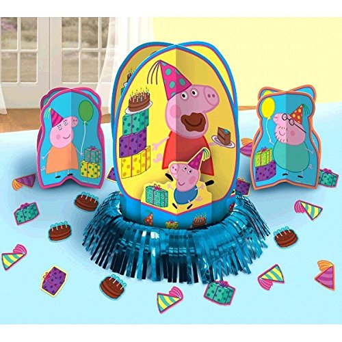 Peppa Pig Party Table Decorations Kit ( Centerpiece Kit ) 23 PCS - Kids Birthday and Party Supplies Decoration -