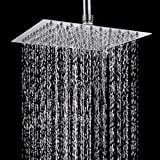 TAPCET 8 Inches Top Spray Rain Shower Head/Fixed Shower Spray, 304 Stainless Steel ,High Pressure Ultra Thin,Overhead Rainfall SPA Shower Head
