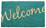 Entryways Non Slip Coir Doormat, 17-Inch by 28-Inch, Cursive Welcome