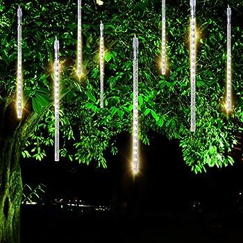 Amazon Com Fyyzy Meteor Shower Rain Lights Christmas Led